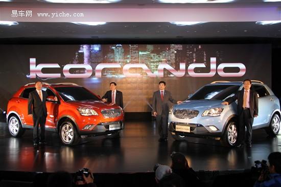 双龙柯兰多汽油版上市 14.98万元起售