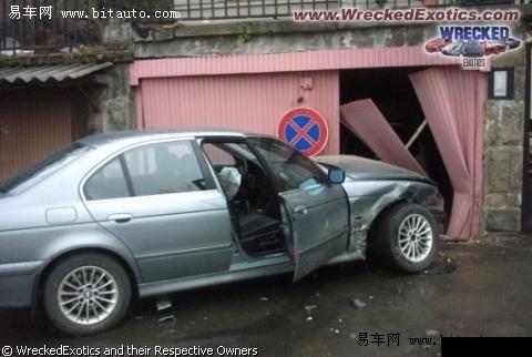 进口宝马5系车祸集锦 高清图片
