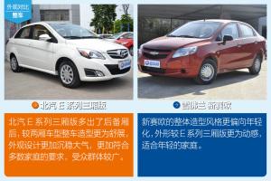 北京E系列北汽E系列三厢版对比别克新赛欧图片