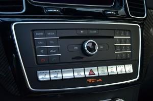 进口奔驰GLE级AMG运动SUV 中控台音响控制键