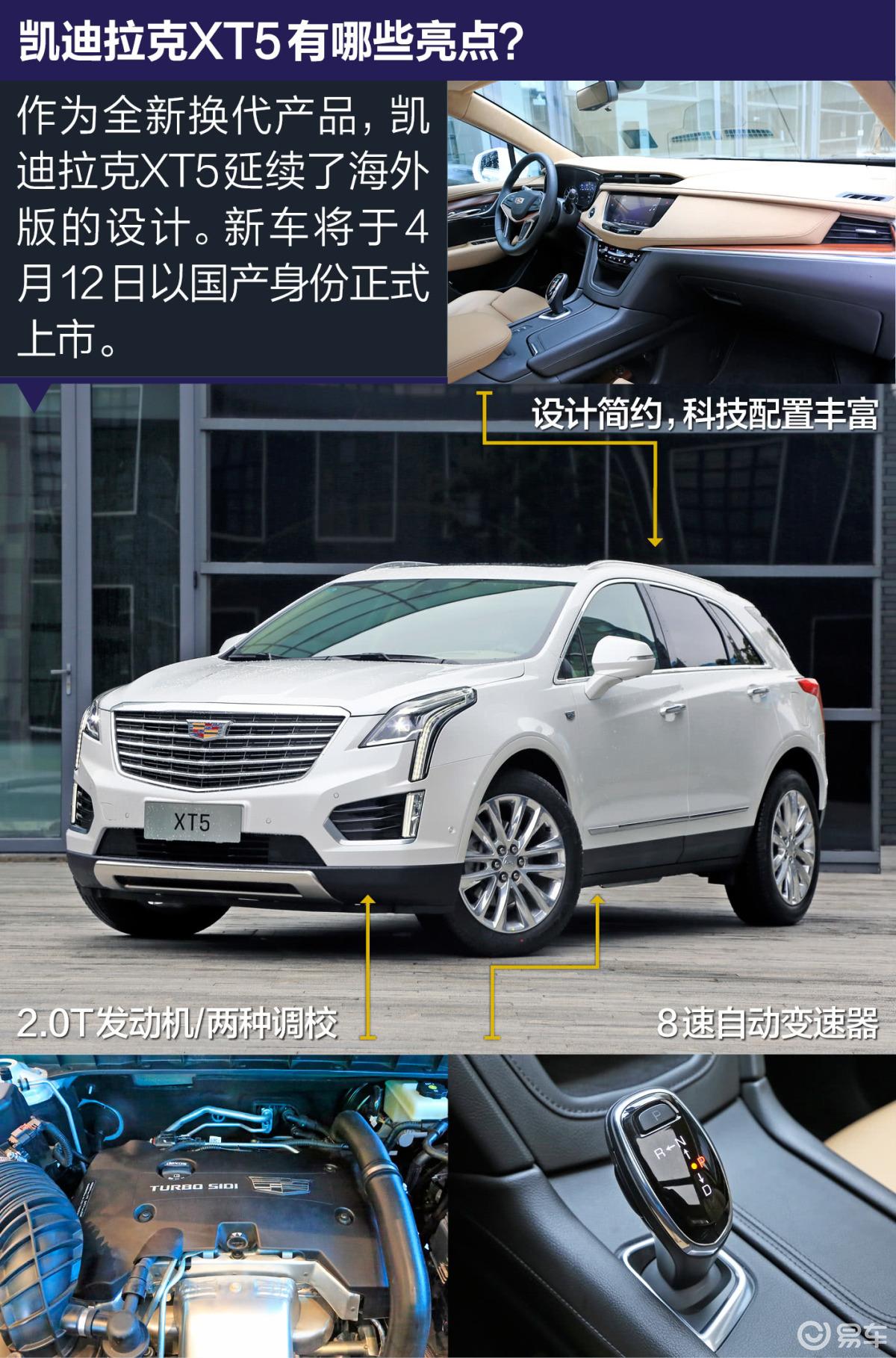 【凯迪拉克xt52018款28e 四驱 铂金版侧前45度车头-.