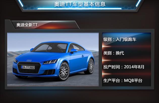 奥迪新TT下月投产 与高尔夫共线油耗4.2L