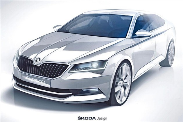 斯柯达全新Superb设计图曝光 2015年发布