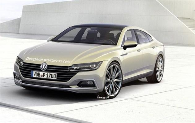 而外观造型设计或将采用大众sport coupe gte概念车的设计元素和理念.