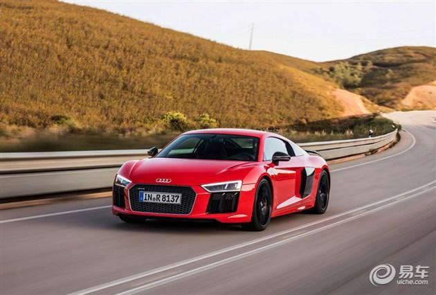 图为全新奥迪r8 v10 plus车型 全新奥迪r8 v10 coupe performance
