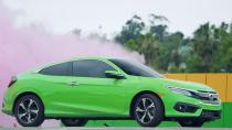 2016款本田思域Coupe 转圈漂移玩接力