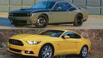 新款道奇挑战者 静态对比福特Mustang
