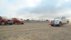 长城丰田福特三大皮卡 刹车距离测试