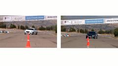 2016款捷XF 两款车型绕桩测试对比