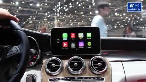 日内瓦车展 奔驰C级搭载苹果CarPlay