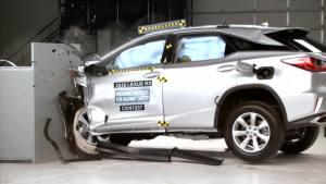 2016款雷克萨斯RX 美国IIHS正面25%碰撞