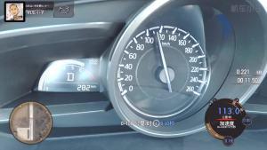 昂克赛拉加速 仪表盘视角