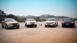 四款SUV交叉轴终极测试 自由光表现出色