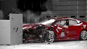 2016款特斯拉Model S IIHS正面25%碰撞