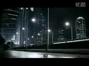 行踪诡异神秘的奥迪A4L展现线条的广告