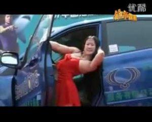 著名网络红人芙蓉姐姐代言双龙牌汽车