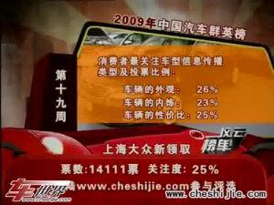 2009年中国汽车风云榜 第19周榜单