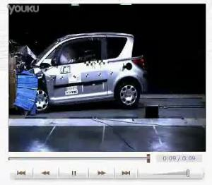 奇瑞QQ3 经过专业的碰撞实验测试安全