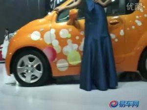 2009广州车展海马ME清纯车模亲切可爱