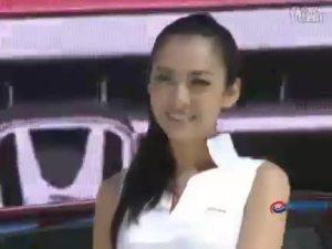 2010本田fcx电池电动车利落的马尾美女