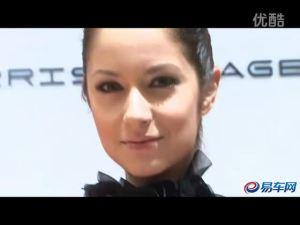 2011上海车展 MG6车模芳菲妩媚