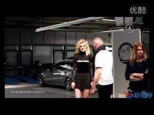 杰西卡斯塔姆拍摄奔驰A级概念车广告
