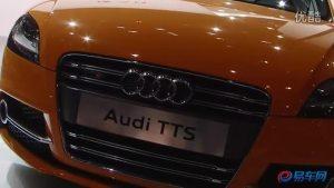 2011广州车展 提前到达展台的奥迪TTS