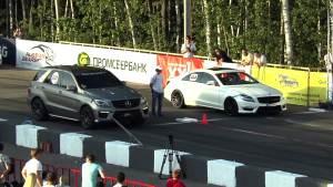 莫斯科直线加速 奔驰CL63对战同门ML63