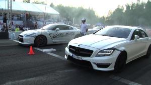 莫斯科直线加速 奔驰CLS63AMG完败GT-R