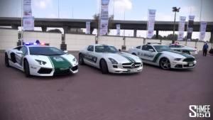 迪拜警方豪华跑车阵容 警局酷似名车展