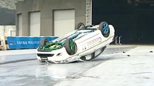 长安逸动 国内首例轿车翻滚测试完成