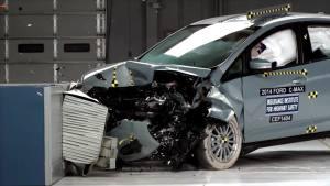 2014款福特C-Max IIHS正面40%碰撞测试