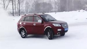 力帆首款SUVX60 雪地模式纵情驾驭