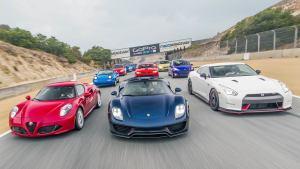 十款超跑竞速赛 保时捷911完胜GT-R