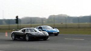 科尼赛克CCX VS 迈凯伦12C 直线加速赛