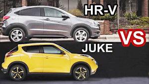 2016款本田HR-V 对比2015款日产Juke