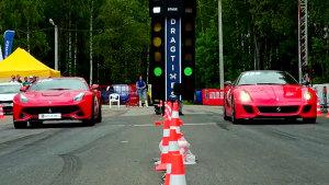 法拉利家族内斗 F12直线加速PK599 GTO