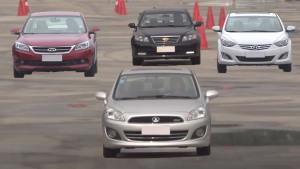 四款热门家轿 国际标准紧急变线测试