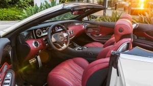 奔驰AMG S63敞篷版 红色内饰高贵惊艳