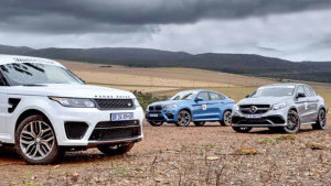 三款豪华高性能SUV竞速 宝马X6 M夺冠