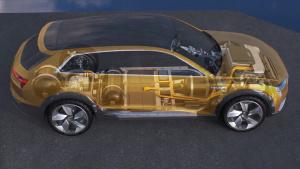奥迪h-tron quattro 氢燃料电池概念SUV