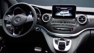 2016款奔驰V级 配备7英寸立式液晶屏