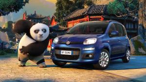 菲亚特Panda搭《功夫熊猫3》 呆萌可爱