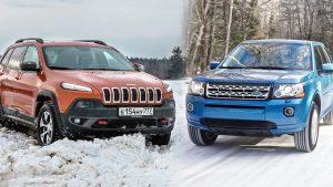雪地爬坡 Jeep自由光迎战路虎神行者2代