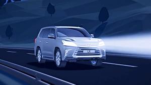 新款雷克萨斯LX 自适应远光灯控制系统