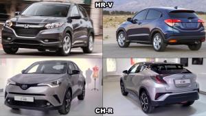 2016款本田HR-V 对比全新丰田C-HR