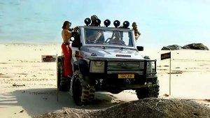 奔驰G级遥控车 沙滩越野大显身手