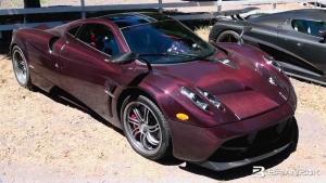 稀有罕见 帕加尼Huayra紫色碳纤维车身