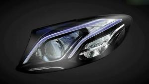 奔驰长轴距E级 几何多光束LED大灯解析