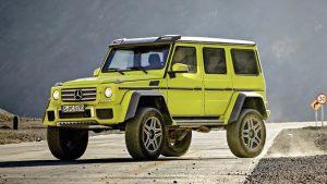 奔驰G550 4X4² 重型越野车造型强悍